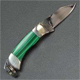 ATHRO small folding knife Malachite outdoor knife & tool Keychain knives folding knife sports military hobby goods sale