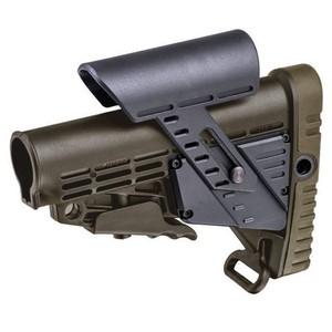 CAAタクティカル 実物 バットストック CBSCP チークピース搭載 AR15 M4対応 [ グリーン ] CAATactical 銃床 リトラクタブルストック スライドストック M4ストック チークレスト チークパッド AR-15
