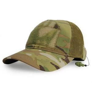 ミルスペックモンキー CG-HAT メッシュキャップ DLUX 耳栓付 [ マルチカム / L/XLサイズ ] MIL-SPEC MONKEY イヤープラグ デラックス ベースボールキャップ 野球帽 メンズ ワークキャップ ハット ミリタリーキャップ