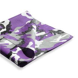 迷彩头巾 69 厘米方形棉军事头巾手帕围巾