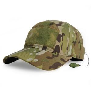 MIL-SPEC MONKEY キャップ CG-HAT デラックス 耳栓付 [ マルチカム / S/Mサイズ ] DLUX イヤープラグ ベースボールキャップ 野球帽 メンズ ワークキャップ ハット ミリタリーキャップ