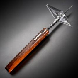 古藤好視 カスタムナイフ 折りたたみ式  70F 花梨こぶハンドル KOTOH 肥後守 折り畳みナイフ フォルダー フォールディングナイフ ホールディングナイフ