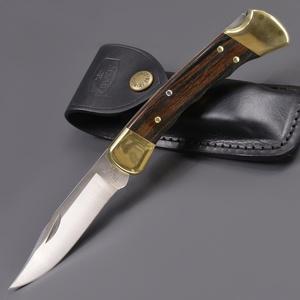 BUCK 折りたたみナイフ 110 フォールディングハンター フィンガーグルーブ付 折りたたみ110   バックナイヴズ バック折り畳みフォルダー ホールディング