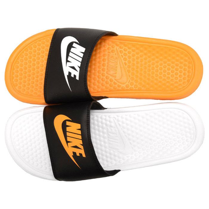 大规模的像徽标凉鞋耐克 BENASSI JDI 不匹配 818736-081 不匹配 Benassi 耐克迷你库珀运动凉鞋橙色黑色白色