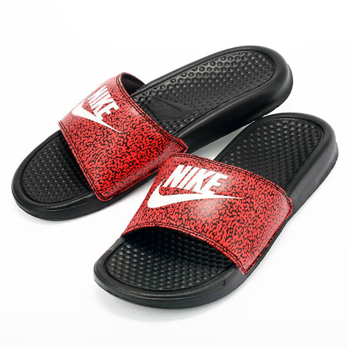 NIKE BENASSI JDI PRINT 631261 603 Nike Benassi sush logo sandal light mass  of sport sandal red black