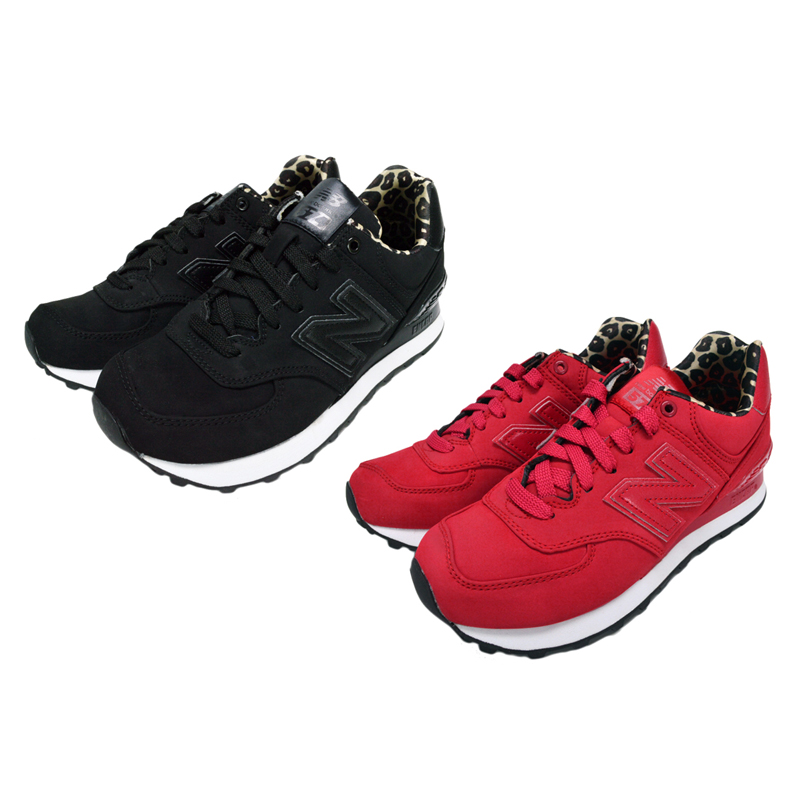 New Balance WL574SPK WL574SPR New Balance black red Leo soft-headed doh