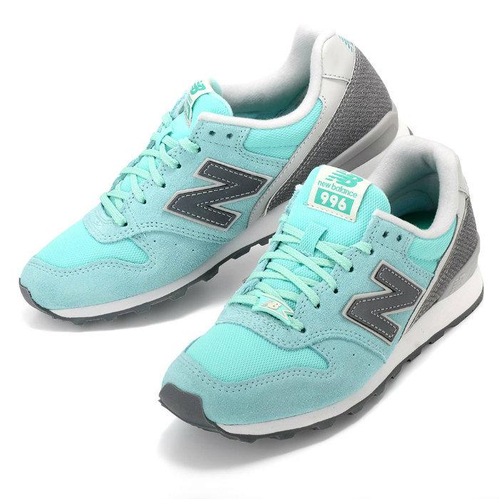 New Balance WR996GF new balance sneakers green light blue suede mesh 996