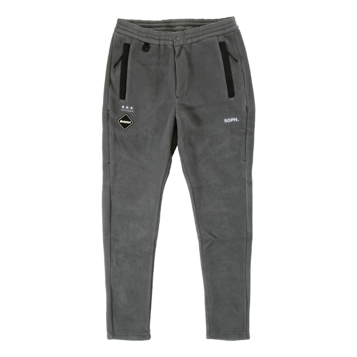 FCRB F.C. Real Bristol POLARTEC FLEECE VENTILATION PANTS F海公畝B F希爾阿爾Bristol polar技術fleece通風褲子褲子灰色