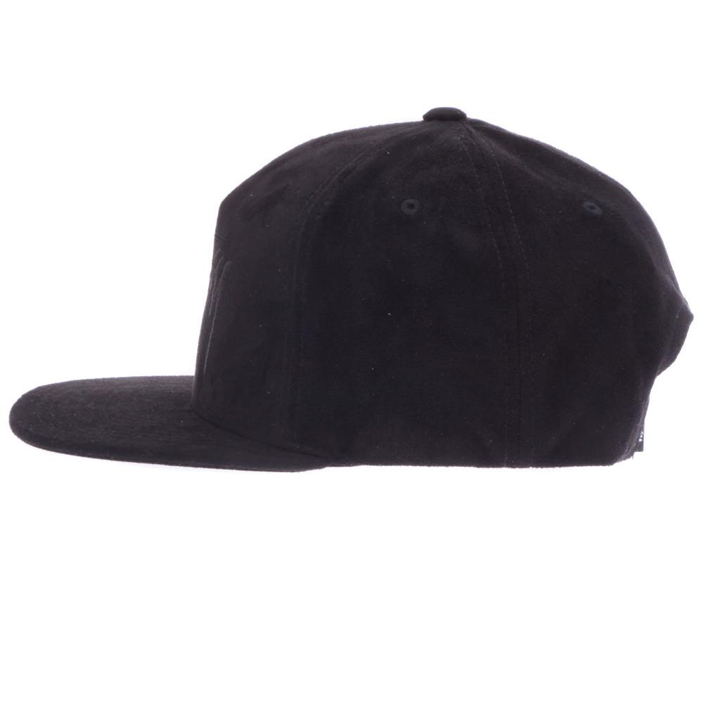STUSSY TONAL SUEDE SNAPBACK suteyushisuedosutokkurogoburakkusunappubakkukyappu帽子