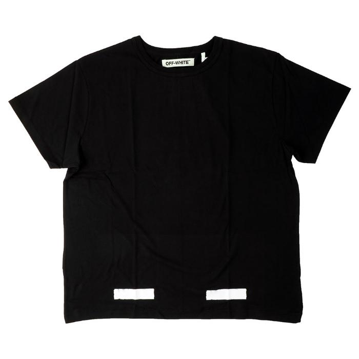 OFF-WHITE BRUSHED DIAGONALS S/S T-SH off white T shirt short sleeve black logo print 05P01Oct16