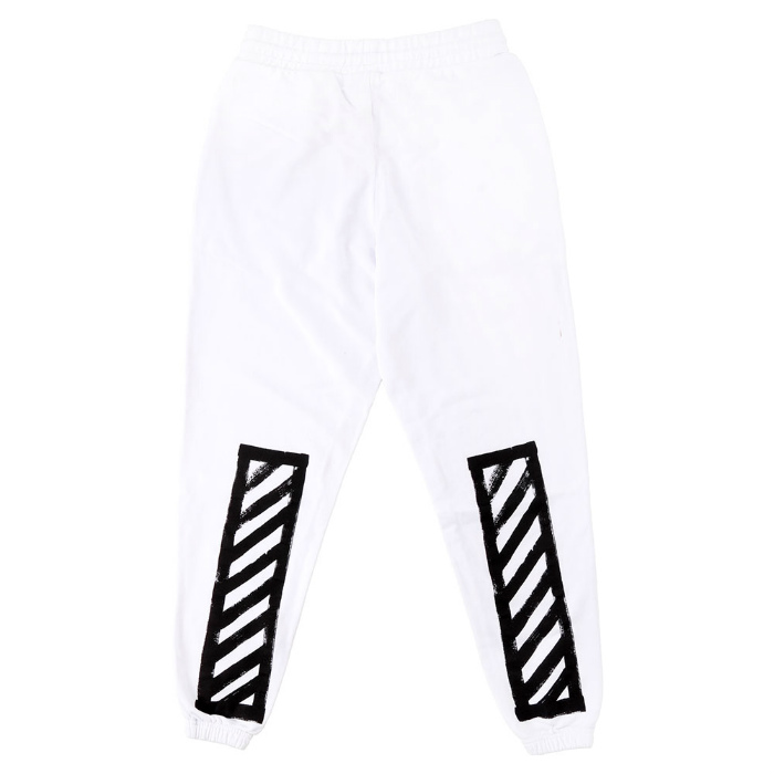 白色刷对角线裤子掉白色运动裤打印白色白色 05P03Dec16