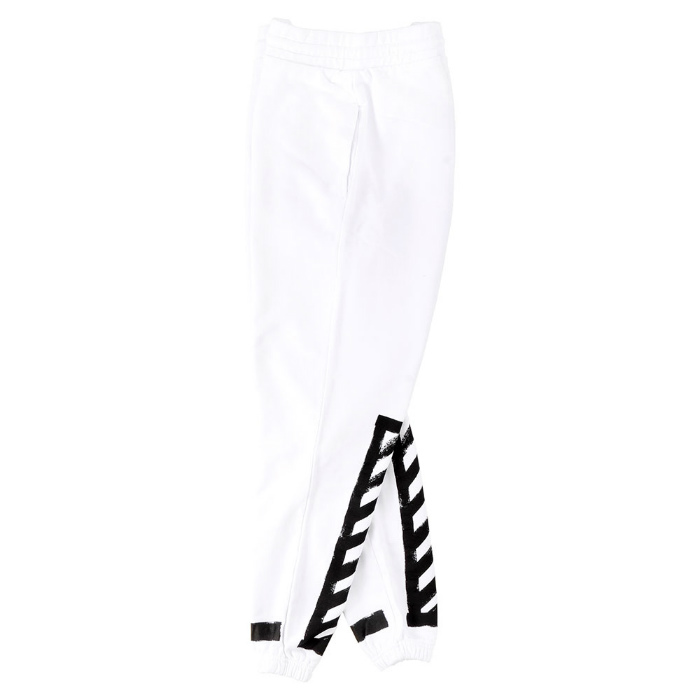 OFF-WHITE BRUSHED DIAGONALS PANTS off white sweat pants printed white white 05P01Oct16