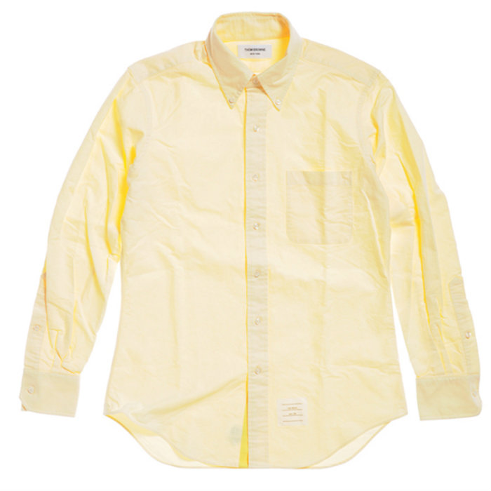 【メンズ】【2013SS】トムブラウン オックスフォードシャツ イエロー / THOM BROWNE CLASSIC LS BD BC SHIRT IN SOLID YELLOW OXFORD GG CF PLACKET