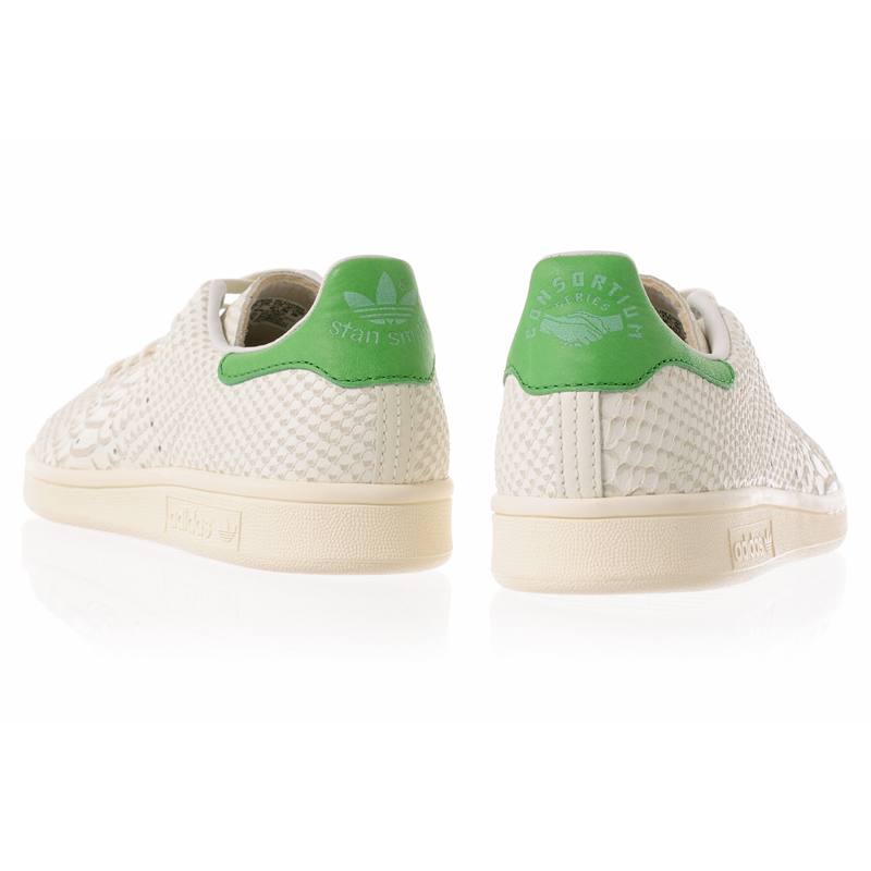 Adidas consortium Stan Smith reptile crocodile leather white green adidas Consortium STAN SMITH CNSRTM REPTILE M22240