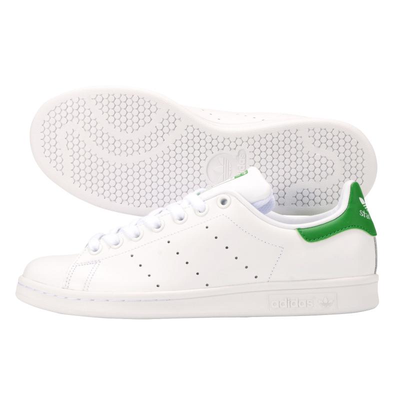 le adidas stan smith, bianco e verde