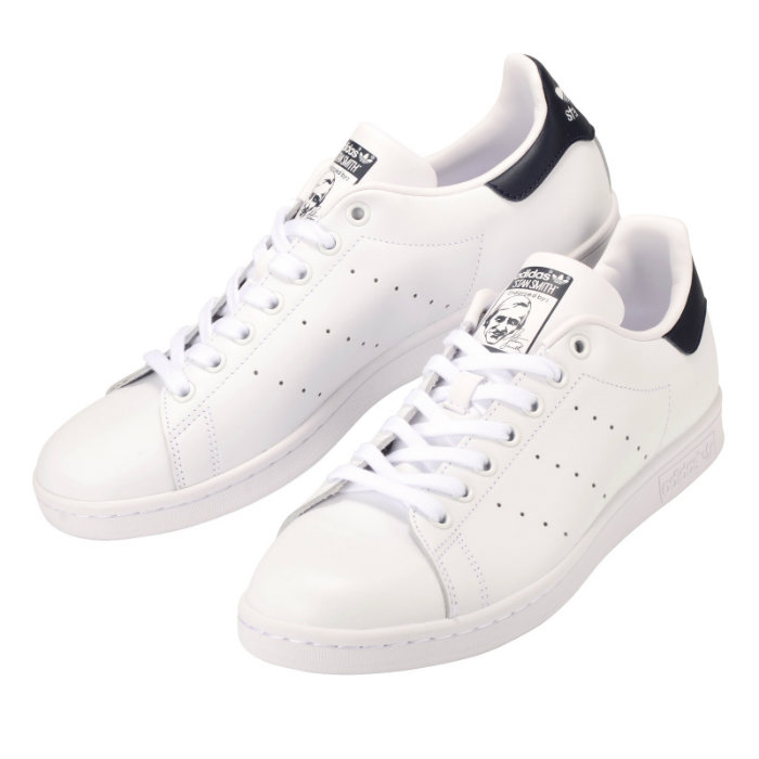 Adidas Stan Smith White Sneakers Leather M20325 X Navy Tennis Shoes