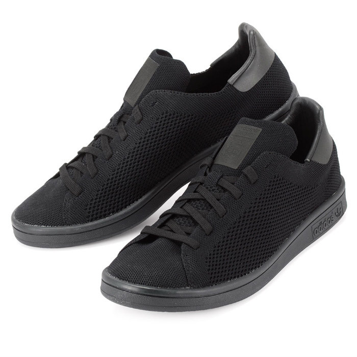 adidas stan smith primeknit triple black