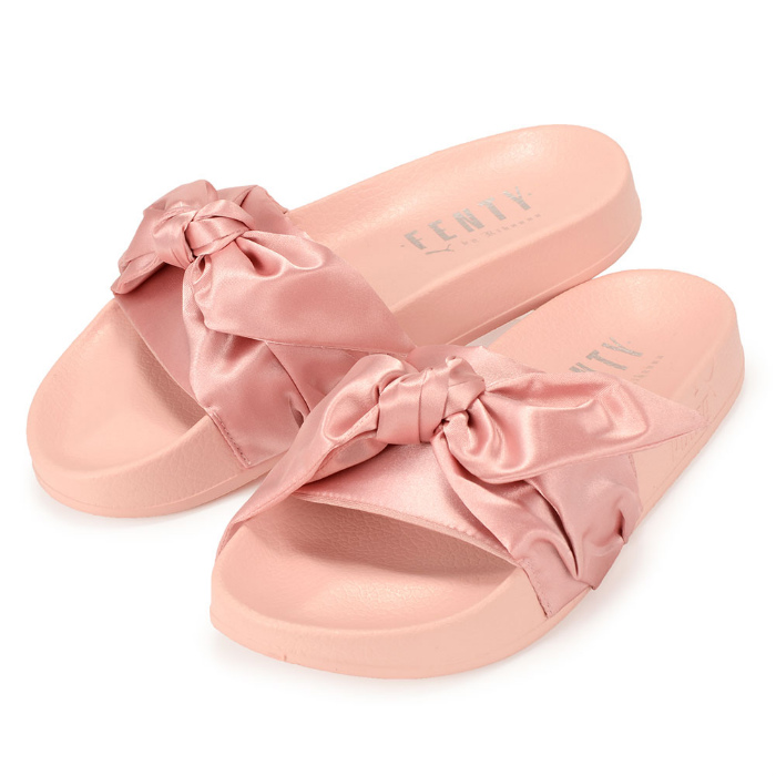 separation shoes 40726 5e92d Puma X Rihanna women sandals Lady's pink ribbon PUMA X FENTY by Rihanna  WMNS BOU SLIDE 365774 03 フェンティコレクション