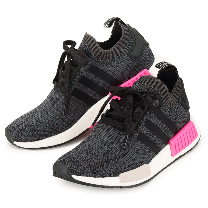 Adidas originals sneakers black adidas NMD R1 PK BB2364 women N M D boost black  pink 23490e687f