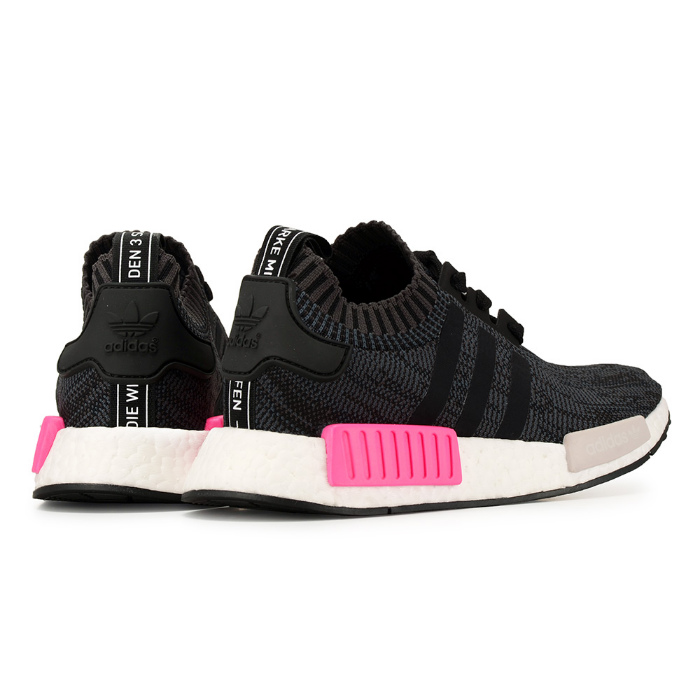 Adidas originals sneakers black adidas NMD R1 PK BB2364 women N M D boost  black pink 4e0e13edb5