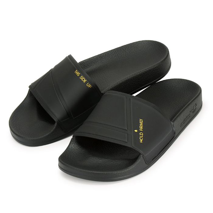 For a limited time! アディダスサンダルアディレッタバニーブラック black ADIDAS X RAF SIMONS  ADILETTE BUNNY SLIDES BY9813 men gap Dis rough Simmons (adi0457)