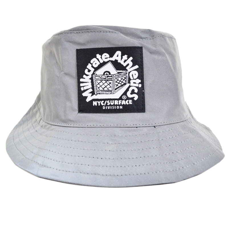 7272675708d republic  Milkcrate Athletics Reflecto Bucket Hat milk Leite Athletics  bucket Hat reflector processing silver Hat