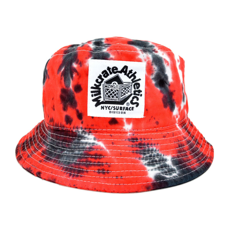 Milkcrate Athletics USA TIEDYE BUCKET HAT milk Leite Athletics bucket hat  with Red Hat 30f367f7e84