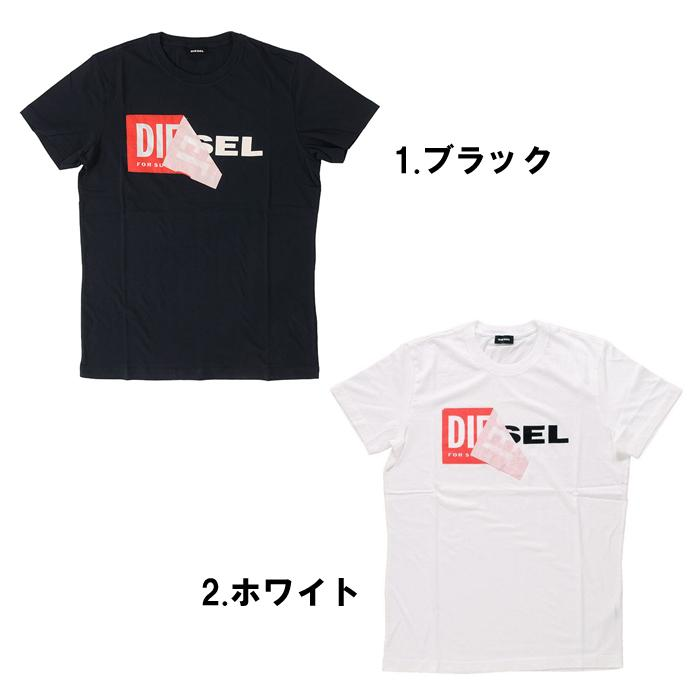 07d7615a1 Diesel T-shirt short sleeves men print logo black and white black white  DIESEL T ...