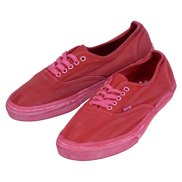 VANS バンズ Authentic CA VN 0JWIBQP オーセンティック スニーカー シューズ 靴 Over Washed Chili Pepper レッド 赤 ウォッシュ加工 脱色 ヴィンテージ加工 NKN(van0312)