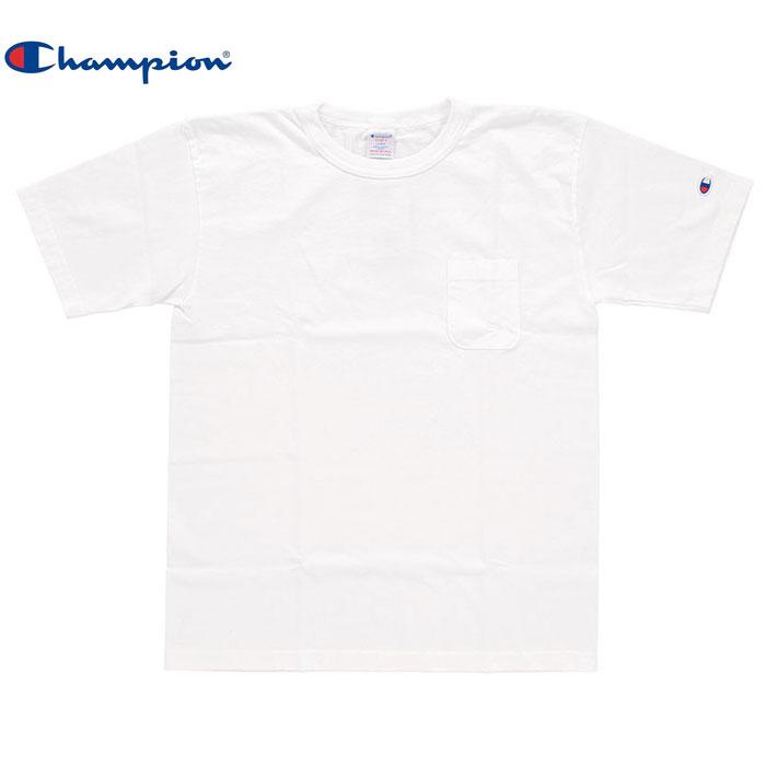 アウトレット Champion チャンピオン T-SHIRT C5 B303 010 贈与 Tシャツ ポケット付き NKN 購買 半袖 メンズ nn0752 ホワイト 無地