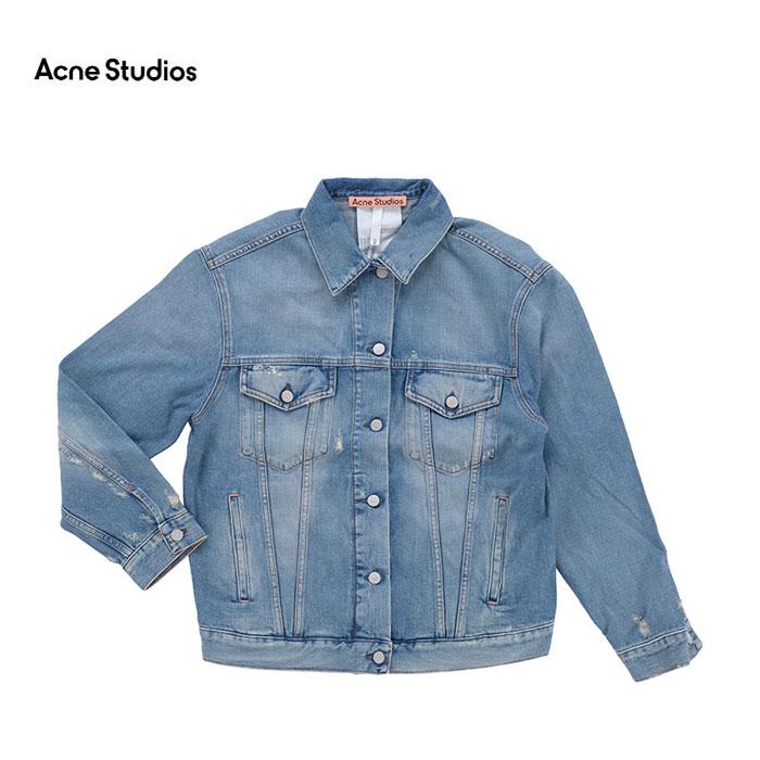 Acne (人気激安) Studios アクネ 情熱セール ストゥディオズ Stitched as0084 228 Up デニムジャケット A90341