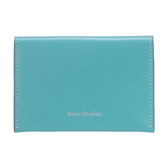 Acne Studios アクネ ストゥディオズ Card holder CG0099 AAP カードホルダー カードケース カード入れ ターコイズブルー