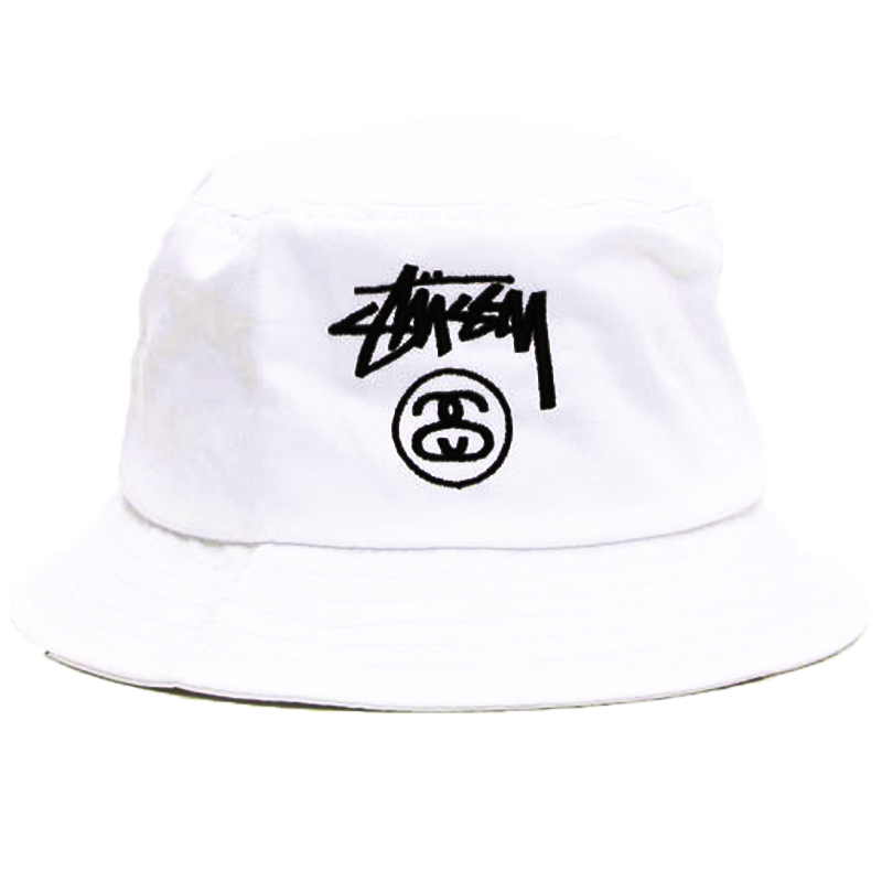 STUSSY STOCK LOCK BUCKET HATステューシーストックロックバケットハットブラックホワイトネイビー帽子