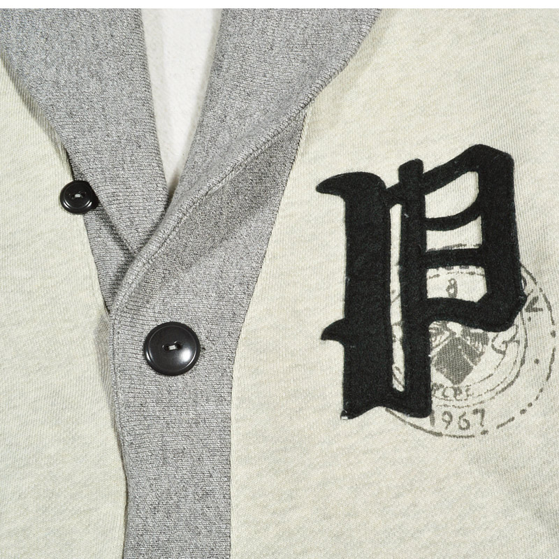 "POLO by Ralph Lauren Fleece Gothic ""P"" Cardigan Polo Ralph Lauren fleece Gothic ""P"" Cardigan shawl color grey"