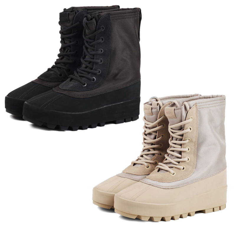 x Kanye West 艹 950 米靴子阿迪达斯 Kanye West collabo 容易阿迪达斯靴子男装 AQ4831 AQ4828 黑色米色黑色
