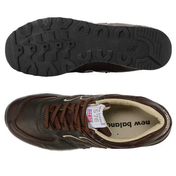 New Balance M576CBB MADE IN ENGLAND新平衡佣人界内英格兰运动鞋鞋棕色UK皮革576