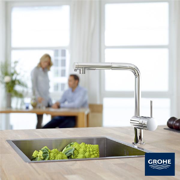 グローエ(GROHE)ミンタ シングルレバー キッチン混合栓(JP 3693 00)商品のみ