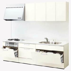 LIXILシステムキッチン リシェルI型 カスタムベースプラン 食洗機なし 奥行650 間口1950 扉グループ1商品のみ