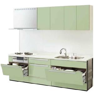 LIXILシステムキッチン リシェルI型 こだわり充実プラン 食洗機なし 奥行650 間口2850 扉グループ1商品のみ