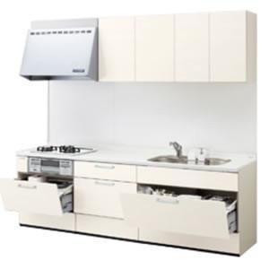 LIXILシステムキッチン シエラI型 アシストポケットプラン 食洗機なし 奥行650 間口2400 扉グループ1リリパのリフォームパック