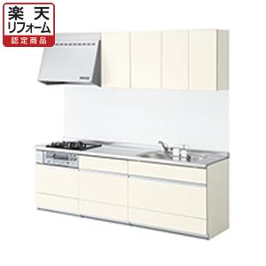 LIXILシステムキッチン リシェルL型 食洗機なし 奥行650 間口2400×1800 扉グループ1【リフォーム認定商品】
