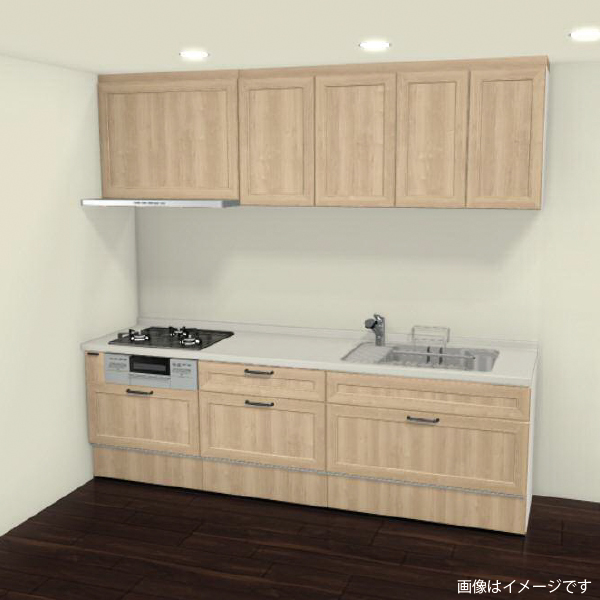 [リリパ オリジナルプラン]リクシル LIXIL システムキッチン リシェル SI I型 間口2550(Bプラン)商品のみ