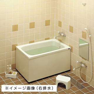 TOTO バスタブ 浴槽 FRP ポリバス 据え置き 置き型 1100サイズ 左排水 【P154L】2面エプロン 送料無料 メーカー直送 軒先渡し マンション1階渡し 荷受け必要(荷受けできなかった場合、保管料・再配達料かかります) 代引き不可 時間指定できません