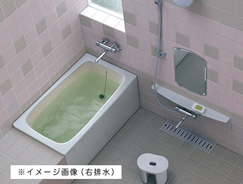 TOTO バスタブ 浴槽 FRP ポリバス 据え置き 置き型 1100サイズ 1面エプロン【P153L】左排水 送料無料 メーカー直送 軒先渡し マンションは1階渡し 荷受け必要(荷受けできなかった場合、保管料・再配達料かかります) 代引き不可 時間指定できません