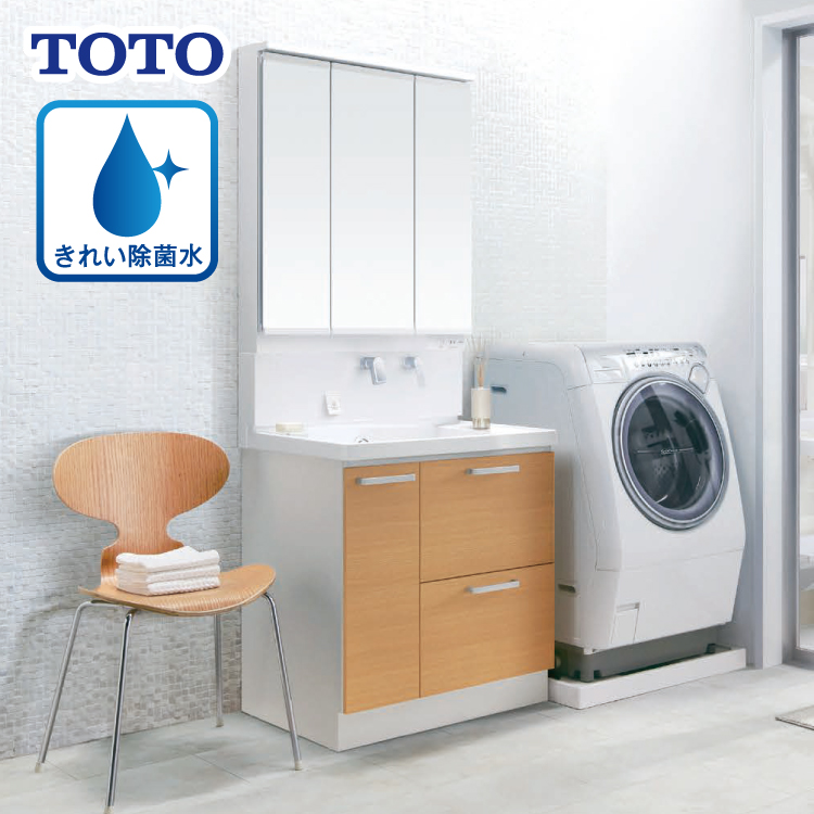 TOTO トートー サクア 間口 750mm 洗面化粧台 きれい除菌水付【商品のみ】