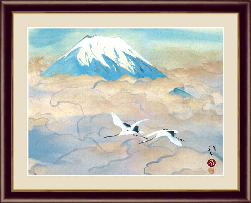 絵画 海外輸入 アート額絵 川端龍子 52×42cm 受注生産品 舞鶴図