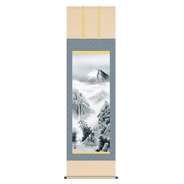 掛軸 セール価格 床の間 富士山水 正規取扱店 富士憧憬 KZ2B2-063 有馬荘園 54.5×190 尺五