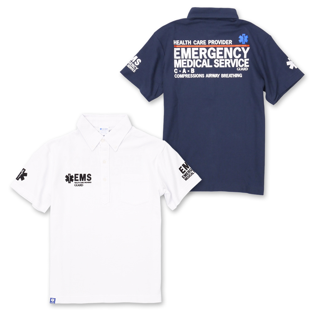 The polo that EMS is button-downed