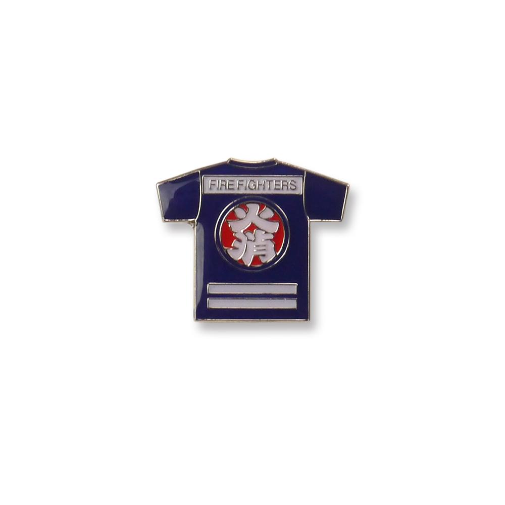 Fire fighter T-shirt pins