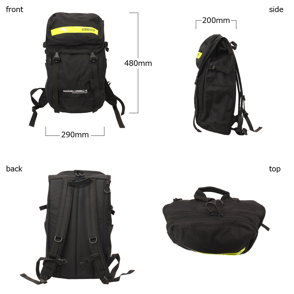 Michael Linnell (Michael linen) double-decker backpack [ML-018]